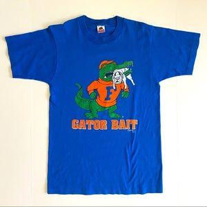 Vtg Florida Gators Gator Bait Blue T-shirt Medium